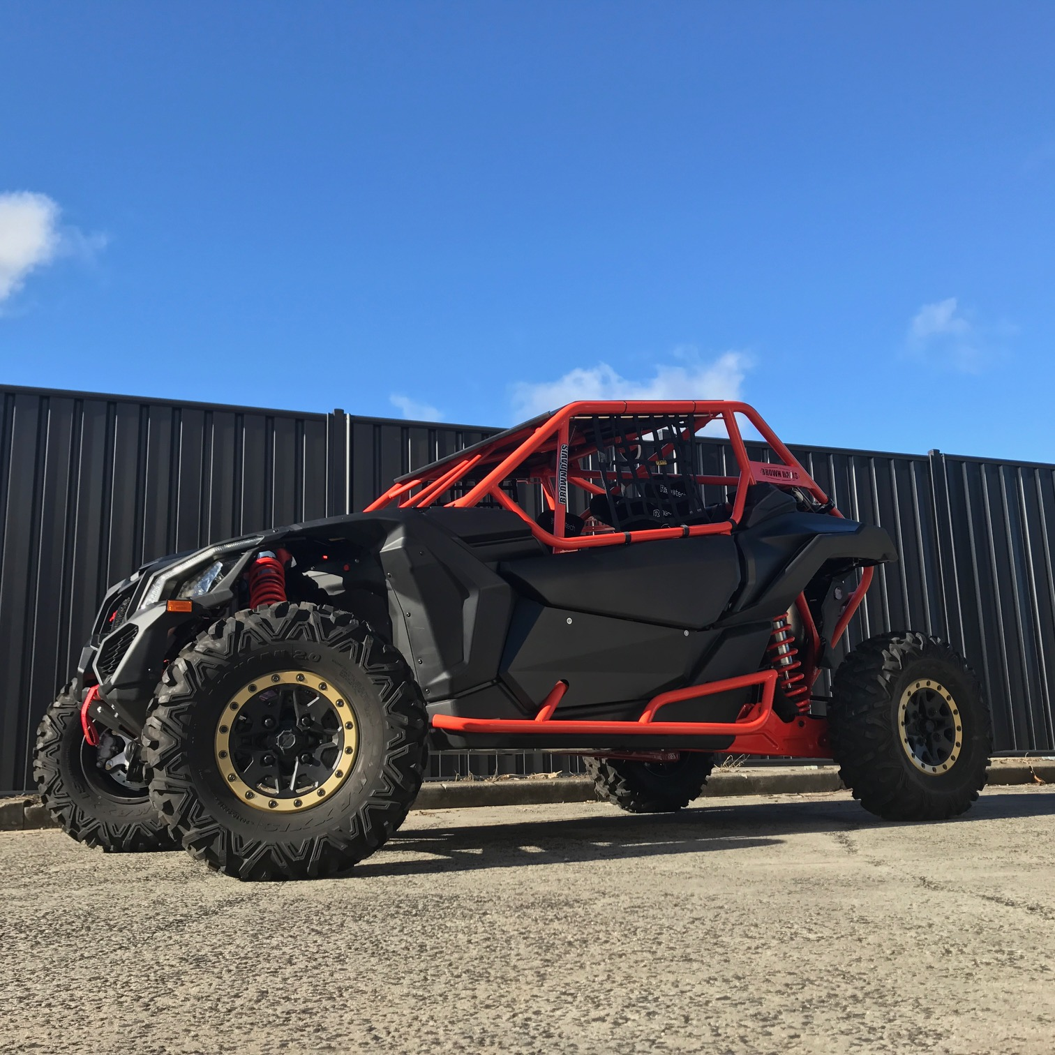 Can Am Maverick X3 Cams Approved Roll Cage Brown Davis