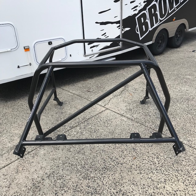 Mazda RX7 Series I-II-III 6 Point Bolt In Roll Cage – Brown